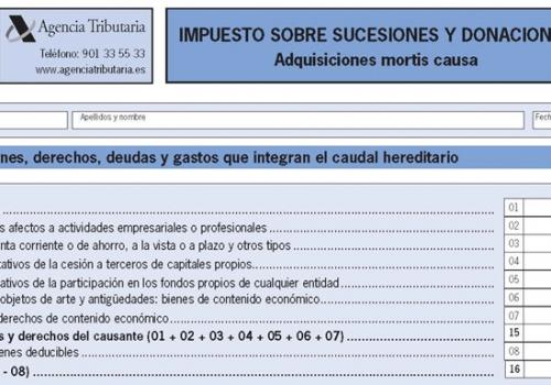 liquidación del Impuesto de Sucesiones.